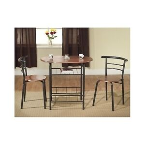 Bistro table and chairs small pub kitchen set apartment for Small kitchen table sets for apartments