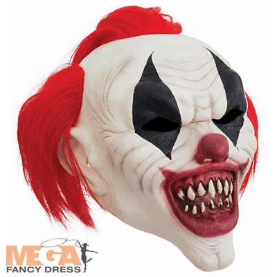 Crazy Red Hair Horror Clown Mask Adults Fancy Dress Halloween Circus Costume Acc - Crazy Hair Halloween Costumes