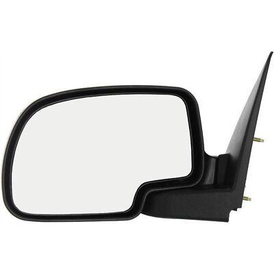 New Driver / Left Side Manual Door Mirror for Chevrolet / GMC Trucks 1999-2007