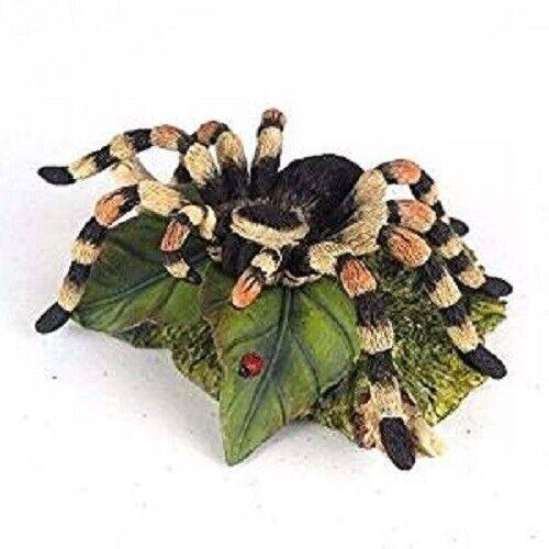 """5.25"""" Tarantula on Leaf Statue Animal Spider Figure Figurine Arachnid"""