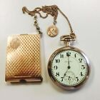Hamilton Gold Plated Antique Pocket Watches