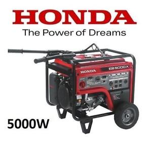 NEW* HONDA 5000W GAS GENERATOR EB5000XK31 212973789 PORTABLE OUTDOOR POWER EQUIPMENT COMMERCIAL ENGINE