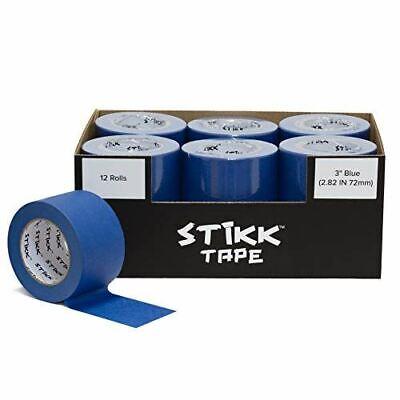 Painters Masking Tape Blue 12 Roll Case Of 3 X 60 Yards 72mm X 55m Stikk
