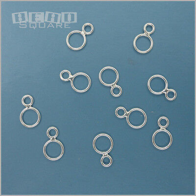 10PC Solid Sterling Silver Double Closed Jump Ring / Figure 8 Connector #33416