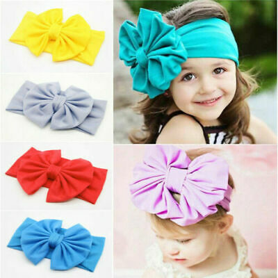 Girl's Toddler Child Baby Bow Cute Hairband Headband Stretch Turban Knot Head ()
