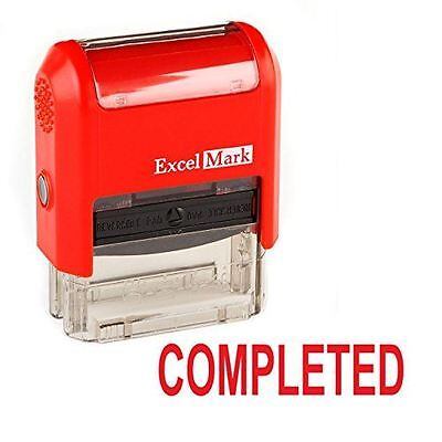 New Excelmark Completed Self Inking Rubber Stamp 55037 Red And Blue Ink