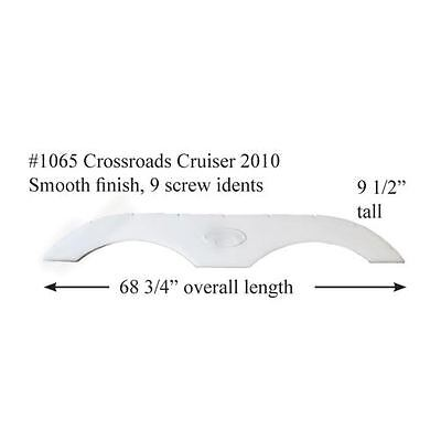 Crossroad Cruiser RV  Fender Skirt  FIBERGLASS  #1065 Polar White