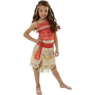 Disney Moana Girls Classic Adventure Halloween Costume Outfit Size 4-6X Age 3+ (Halloween Costumes For Girls Age 4)