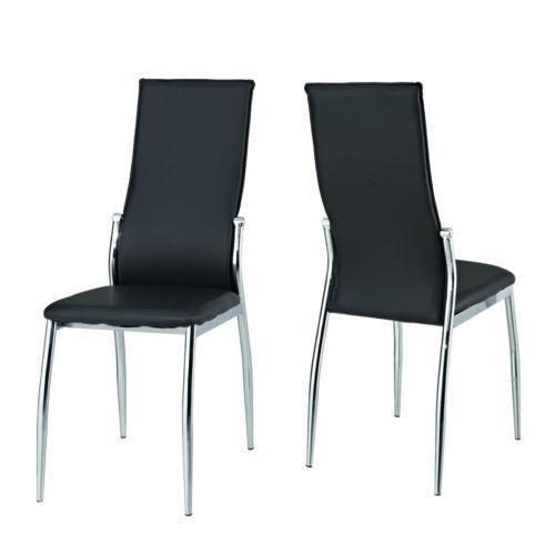 Black glass dining table and 4 chairs ebay for Black glass dining table