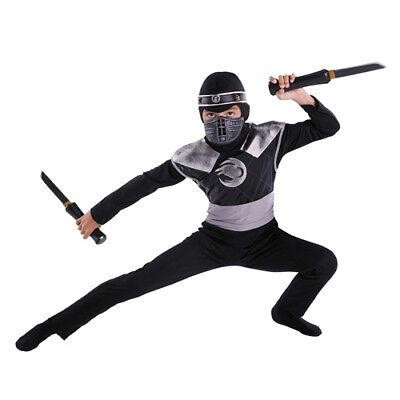 Kid's Dark Raven Ninja Boy's Halloween Costume