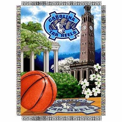 Team Tapestry Throw (New UNC Tarheels Tapestry Throw Gift Blanket Basketball North Carolina NCAA Team )