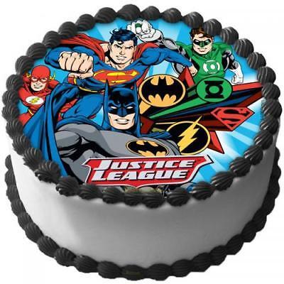 gue Eßbar Tortenaufleger Party Deko Tortenbild Geburtstag (Justice League Kuchen)