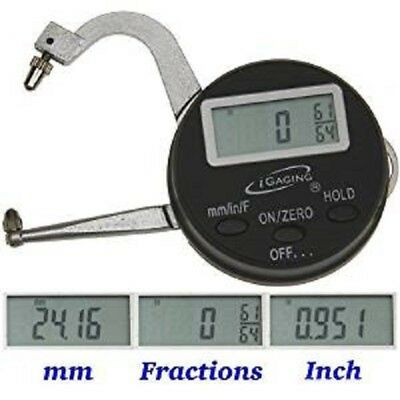 Igaging Digital Thickness Gauge Micrometer Measuring 0-1 Mm Inch Fraction