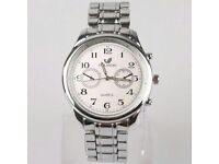Popular Men Silver Gift Luxury Sport Watch