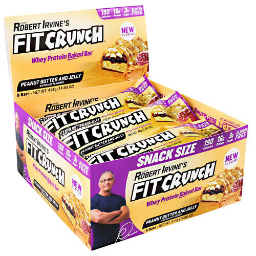 Robert Irvine's FIT CRUNCH Whey Protein Baked Bar PEANUT BUT