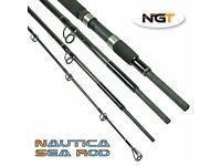FISHING ROD Nautica - 8ft, 4pc Carbon Sea Travel Rod NEW