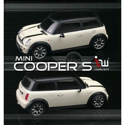 Iwaver 1:28 02M Mini Cooper S Blanca On-Road Coche Eléctrico Brushed 2WD...