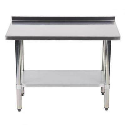 24x48 Stainless Steel Work Table W Backsplash Commercial Kitchen Restaurant