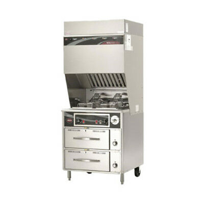 Wells Wvf-886rw Ventless Dual Fryer With Auto-lifts With 2 Drawer Warmer Base