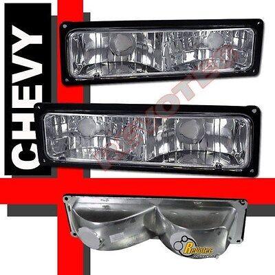 88-98 Chevy GMC C/K 1500 2500 3500 Silverado Sierra Pickup Bumper Signal Lights