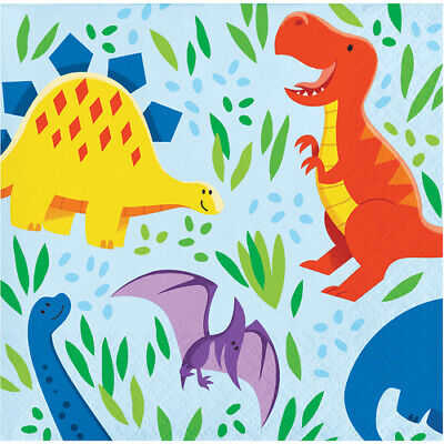 Dinosaur Friends Beverage Napkins (16) - Dino Birthday Party -