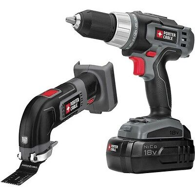 PORTER-CABLE 18V NiCad 2-Tool Combo Kit - Drill/Driver & Oscillating Multi Tool on Rummage