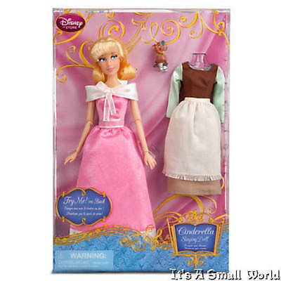 Disney Store Cinderella Singing Doll and Costume Set 11 1/2'' Gus Mouse - Cinderella Gus Gus Costume