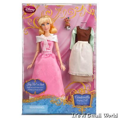 Disney Store Cinderella Singing Doll and Costume Set 11 1/2'' Gus Mouse NIB - Cinderella Gus Gus Costume