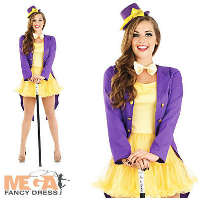 Chocolate Factory Owner Ladies Fancy Dress Book Day Character Adults Costume