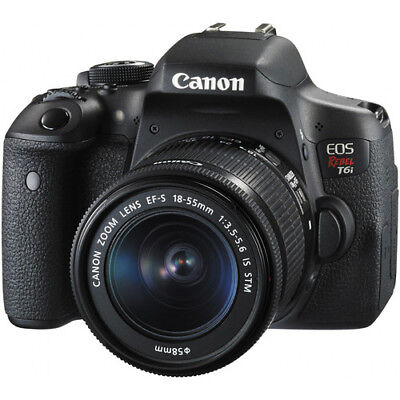 Canon EOS Rebel T6i 24.2MP DSLR Camera with 18-55mm Lens!!