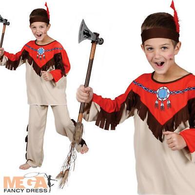 Native Indian Boys Cowboys & Indians Fancy Dress Up Kids Costume Child Ages (Kids Dress Up Cowboy Kostüme)
