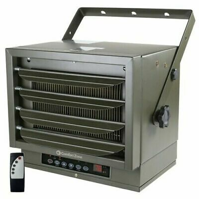 Comfort Zone Industrial Ceiling Mount Heater + Remote! 7500 Watts 240V Electric 240v Electric Infrared Heater