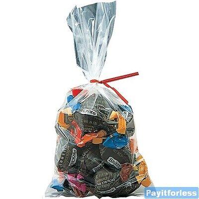 22x30 2 Mil Clear Flat Food Grade Plastic Poly Bags 250