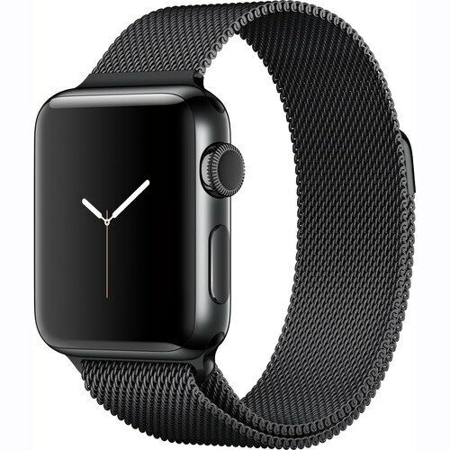 Apple Apple Watch Series 2 38mm Space Black Stainless Steel Case Space Black Milanese Loop Band Space Black Stainless Steel MNPE2LL/A