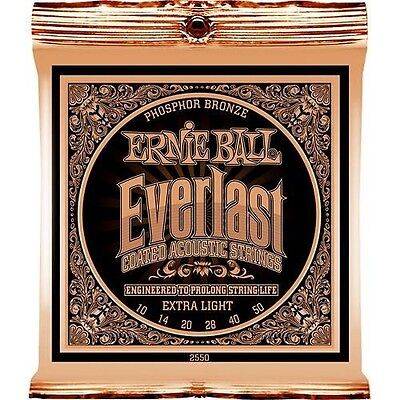 Ernie Ball 2550 Everlast Ext LT Coated Acoustic Guitar Strings Free Ship U.S