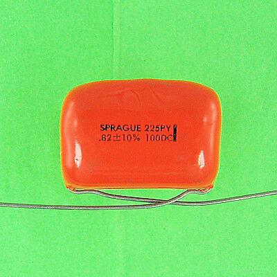 Sprague 225p Polyester Capacitor .82uf 100v Dc 10 Radial Lead Vdc Pretested New