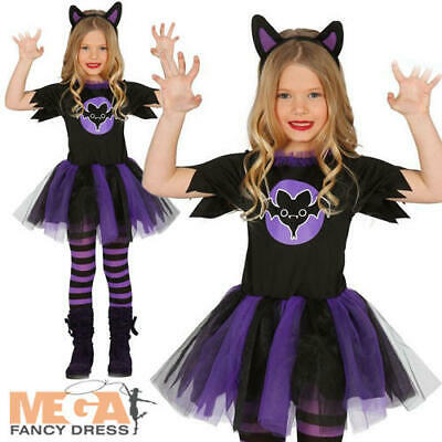 Batty Bat Girls Age 10 11 12 Fancy Dress Halloween Animal Kids Childs Costume ](Girl Halloween Costumes Age 11)