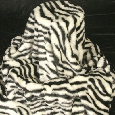 Plüschstoff Kunstfell 14mm Flor ZEBRA schwarz weiß Afrika - Kind Plüsch Zebra Kostüme