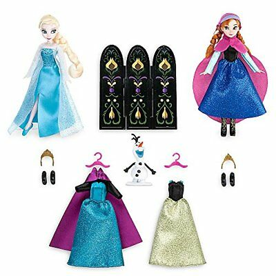Disney Anna and Elsa Mini Doll Wardrobe Play Set - Frozen - 5 1/2 Inch