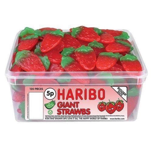 Strawberry Sweets: Haribo Giant Strawberries: Sweets & Chocolate
