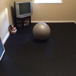 Black Gym Rubber Floor Rolls- Gym Mats