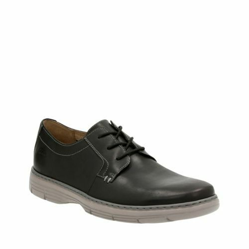 Clarks Watts Pace Men's Oxford Black Leather Casual Shoes 26