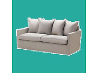 New Ikea HARNOSAND COVER SET ONLY for 3 seat sofa in Light Grey Tallåsen Sand
