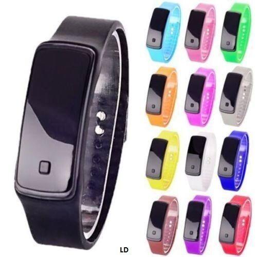Men's Women's LED Sport Watch Digital Silicone Watch Band Wr
