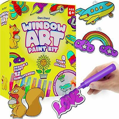Window Art Suncatcher Painting Kit for Kids - Arts and Crafts for Girls & Boy...