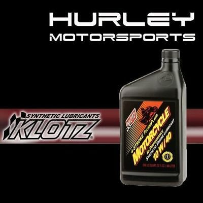 KLOTZ KL-840 Motorcycle TechniPlate Synthetic Oil - 10W/40 - 32 oz - Qty (1)