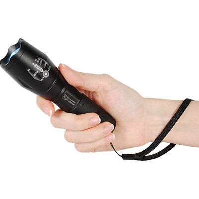 NEW SafetyTechnology 1,200 Lumens LED Self Defense Zoomable Flashlight w/ Strobe