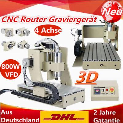 3/4Achse CNC 6040 3040 Router Graviermaschine Portalfräsemaschine 1500W 800W DE