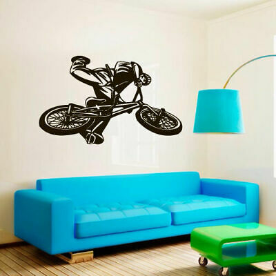 Wall Decal BMX Rider Sticker Bike Bicycle X Games Racing Cycle Jump Teen M1656 for sale  Virginia Beach
