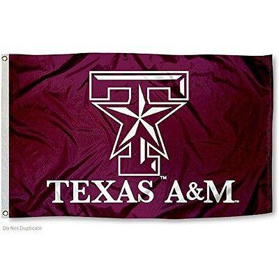 TEXAS A&M UNIVERSITY AGGIES FLAG LARGE 3'X5' TAMU STAR LOGO: FREE SHIPPING (University Large Flag)